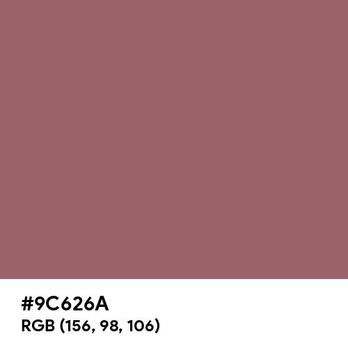 Dark Rose Gold (Hex code: 9C626A) Thumbnail
