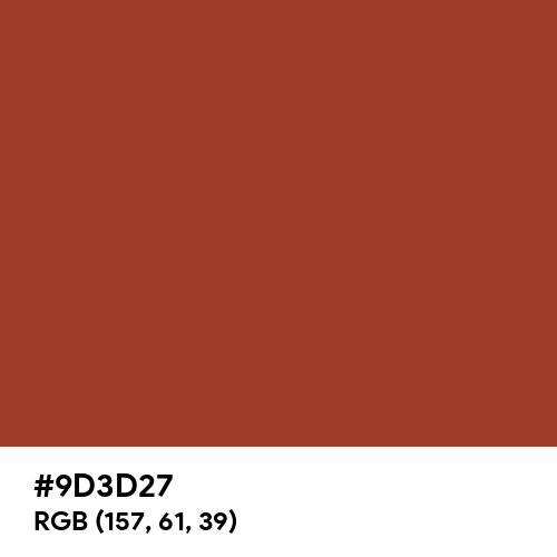 Henna Red (Hex code: 9D3D27) Thumbnail