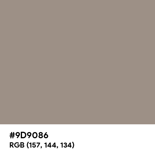 Dusty Brown (Hex code: 9D9086) Thumbnail