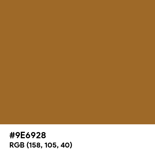 Stage Gold (Hex code: 9E6928) Thumbnail