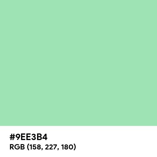 Relax Green (Hex code: 9EE3B4) Thumbnail