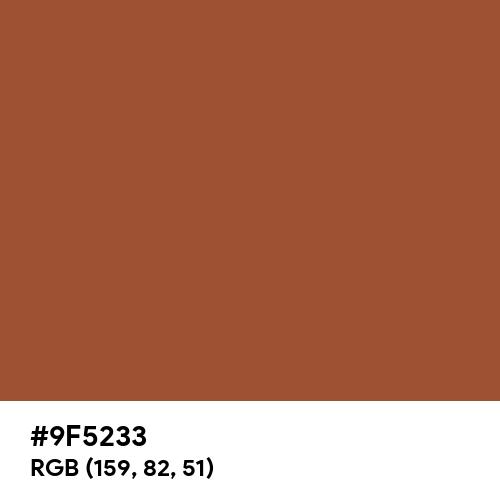 代赭色 (Taisha-iro) (Hex code: 9F5233) Thumbnail