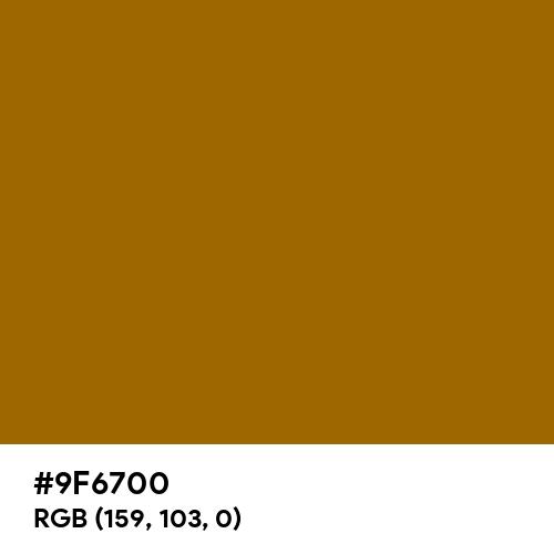 Deep Bronze (Hex code: 9F6700) Thumbnail
