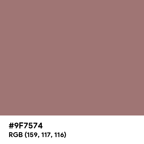 Burnished Brown (Hex code: 9F7574) Thumbnail