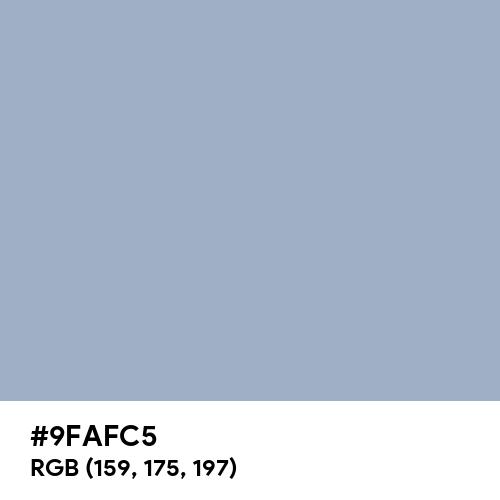 Cadet Blue (Crayola) (Hex code: 9FAFC5) Thumbnail