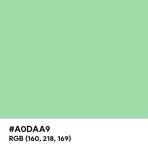 Green Ash (Hex code: A0DAA9) Thumbnail