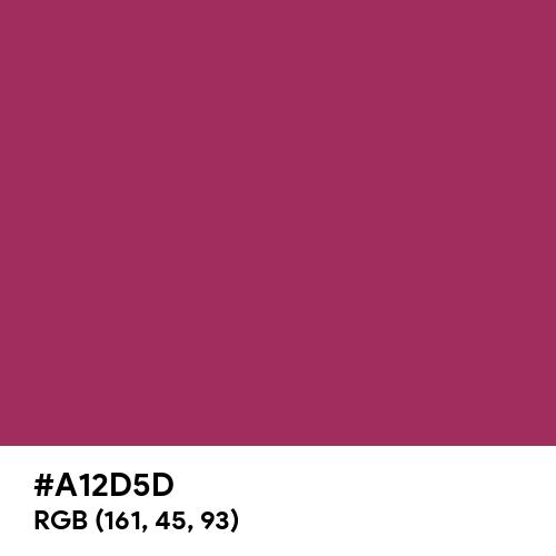 Parlour Red (Hex code: A12D5D) Thumbnail