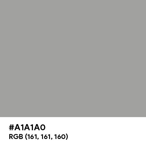 White Aluminium (Hex code: A1A1A0) Thumbnail