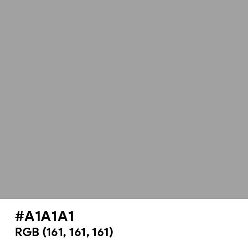 Perfect Gray (Hex code: A1A1A1) Thumbnail