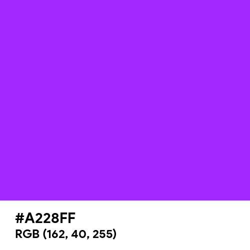 Glossy Purple (Hex code: A228FF) Thumbnail