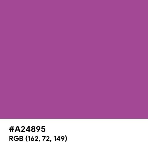 Plum (Hex code: A24895) Thumbnail