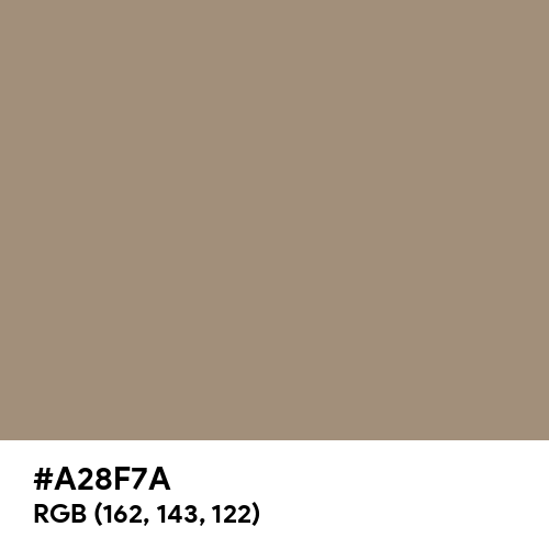 Grey Beige (RAL) (Hex code: A28F7A) Thumbnail