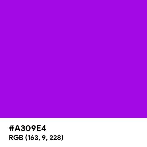 Spectrum Violet (Hex code: A309E4) Thumbnail