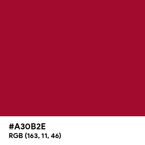 Arabian Red (Hex code: A30B2E) Thumbnail