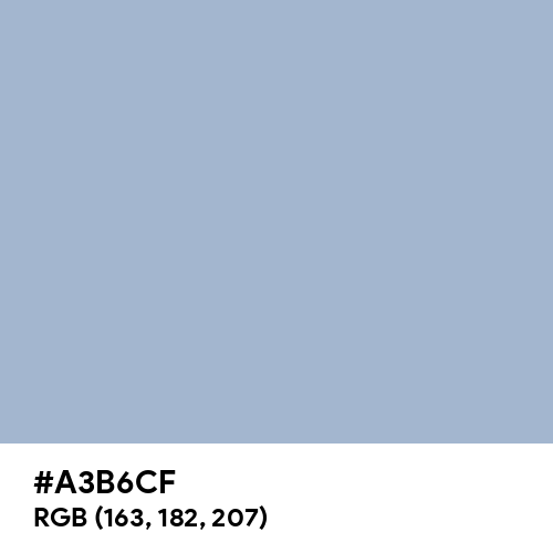 Wild Blue Yonder (Hex code: A3B6CF) Thumbnail