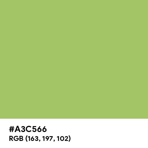 Spring (Hex code: A3C566) Thumbnail