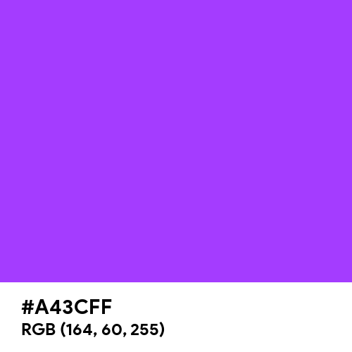 Psychedelic Violet (Hex code: A43CFF) Thumbnail