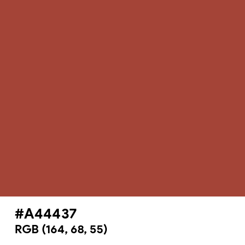 Medium Carmine (Hex code: A44437) Thumbnail