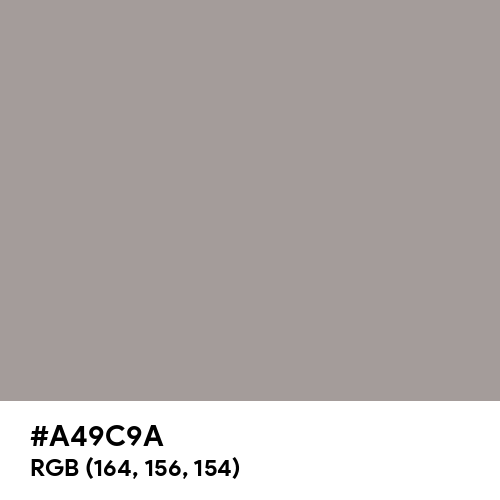 Spanish Gray (Hex code: A49C9A) Thumbnail