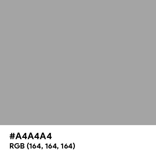 Quick Silver (Hex code: A4A4A4) Thumbnail