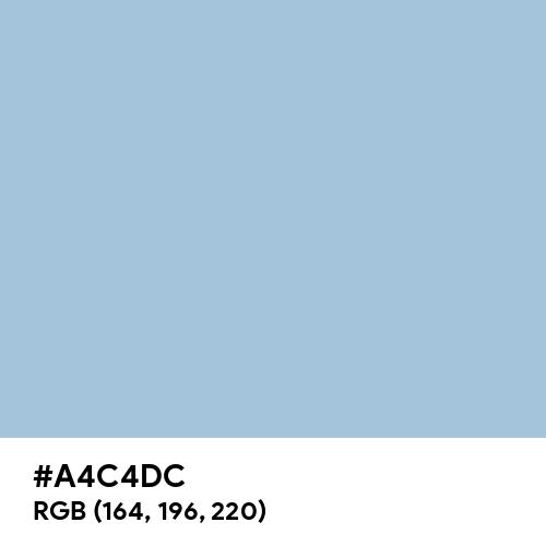 Pale Cerulean (Hex code: A4C4DC) Thumbnail
