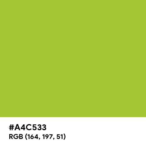 Android Green (Hex code: A4C533) Thumbnail