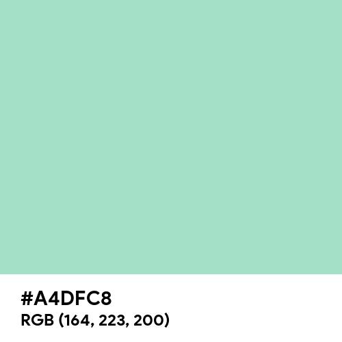 Sea Foam Green (Hex code: A4DFC8) Thumbnail