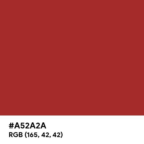 Auburn (Hex code: A52A2A) Thumbnail