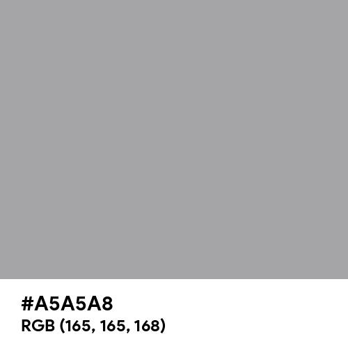 Matte Silver (Hex code: A5A5A8) Thumbnail