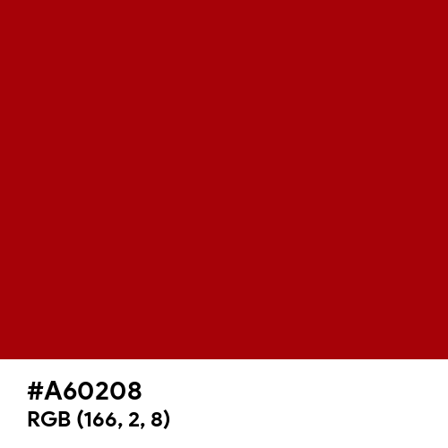 Classic Rose (Hex code: A60208) Thumbnail