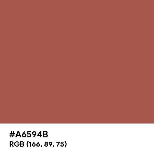 Redwood (Pantone) (Hex code: A6594B) Thumbnail