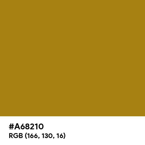 Dark Yellow (Hex code: A68210) Thumbnail