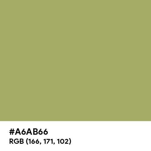 Olive Green (Hex code: A6AB66) Thumbnail