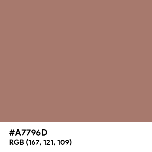 Pastel Chocolate (Hex code: A7796D) Thumbnail