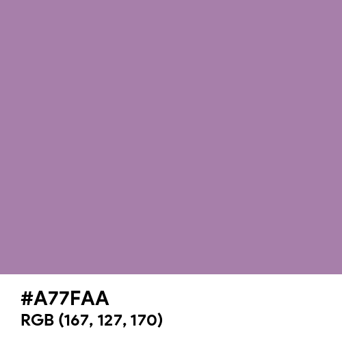 Deep Amethyst (Hex code: A77FAA) Thumbnail
