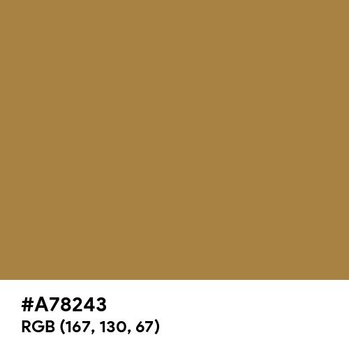 Metallic Sunburst (Hex code: A78243) Thumbnail