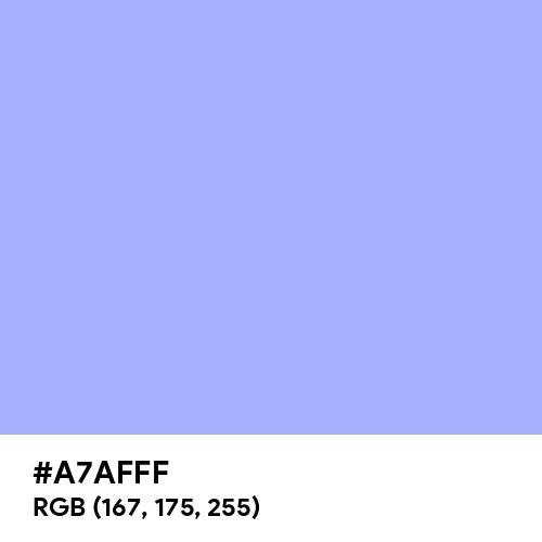 Maximum Blue Purple (Hex code: A7AFFF) Thumbnail