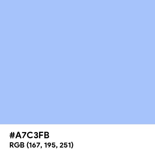 Baby Blue Eyes (Hex code: A7C3FB) Thumbnail