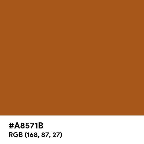 Light Brown (Hex code: A8571B) Thumbnail