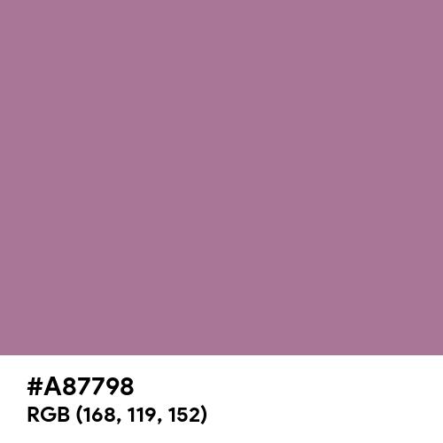 English Lavender (Hex code: A87798) Thumbnail