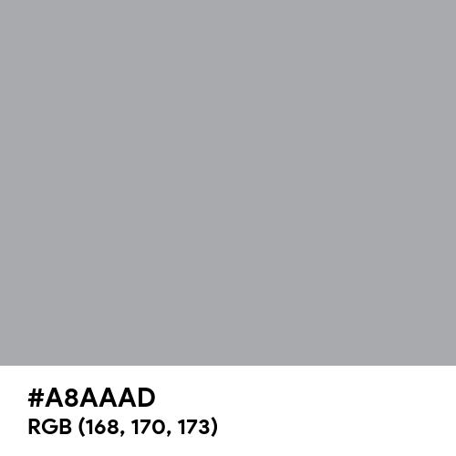 Metallic Silver (Hex code: A8AAAD) Thumbnail