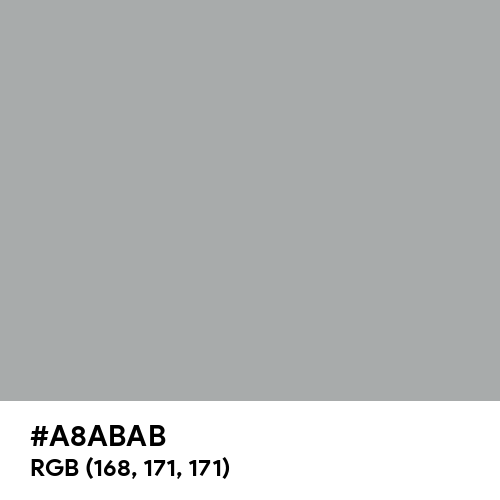 Metallic Silver (Hex code: A8ABAB) Thumbnail