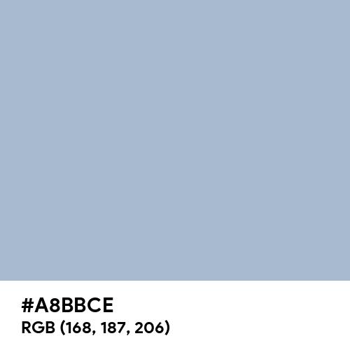 Pastel Blue (Hex code: A8BBCE) Thumbnail