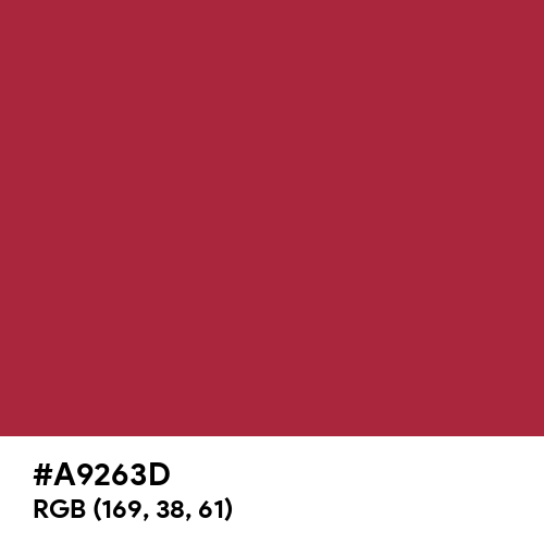 Raspberry Red (RAL) (Hex code: A9263D) Thumbnail