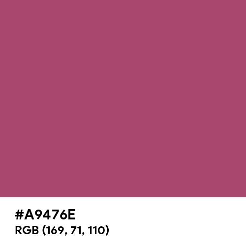 Medium Ruby (Hex code: A9476E) Thumbnail