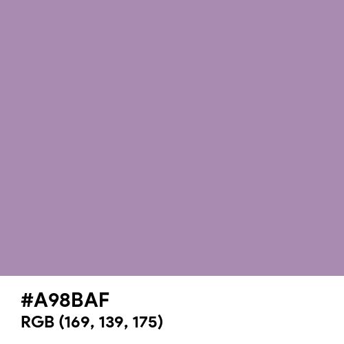 Regal Orchid (Hex code: A98BAF) Thumbnail