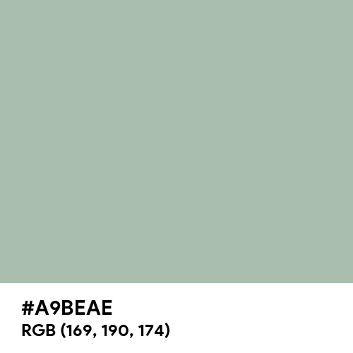 Cambridge Blue (Hex code: A9BEAE) Thumbnail