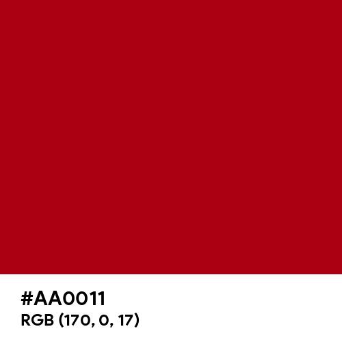 Madder (Hex code: AA0011) Thumbnail