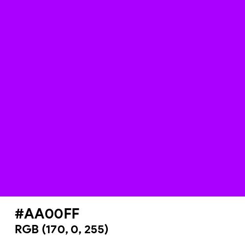 Vibrant Purple (Hex code: AA00FF) Thumbnail