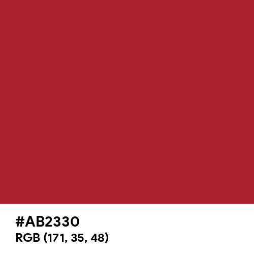 Royal Red (Hex code: AB2330) Thumbnail